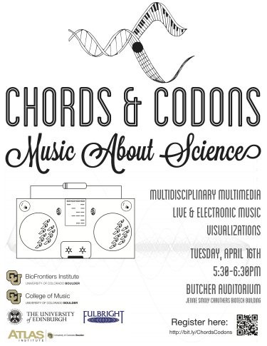 Chords and Codons - music about science event