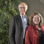Tom Cech and Leslie Leinwand (courtesy Casey A. Cass Photographer University Communications University of Colorado at Boulder)