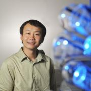 Biofrontiers Institute scientist, Hang (Hubert) Yin's, focus on the Epstein Barr virus is leading him to a greater understanding of how cancer invades cells. Photo courtesy: Glenn Asakawa, University of Colorado Boulder
