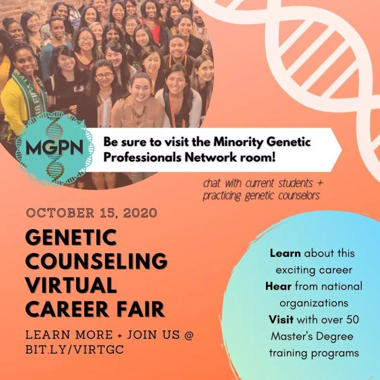 genetic counseling virtual career fair on 10/15