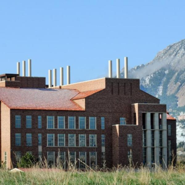 The Jennie Smoly Caruthers Biotechnology Building at the University of Colorado Boulder
