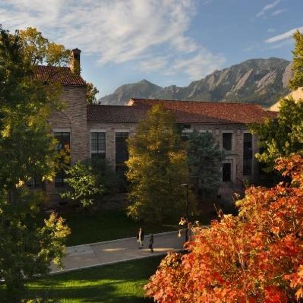 CU Boulder campus in the fall