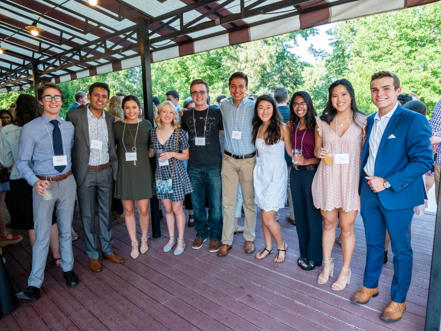 2019 Scholars at Welcome Dinner
