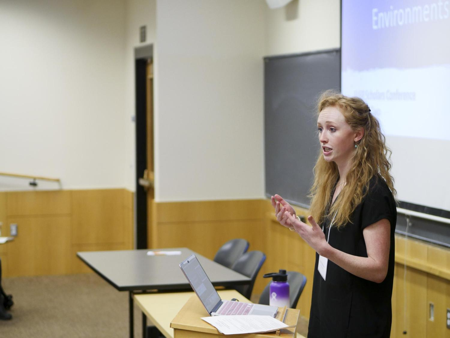 Scholar Kelly Dinneen presents at the annual Scholars Conference
