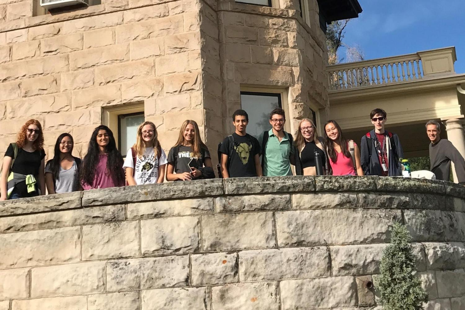 Norlin Scholars posing in front of the Boulder History Museum