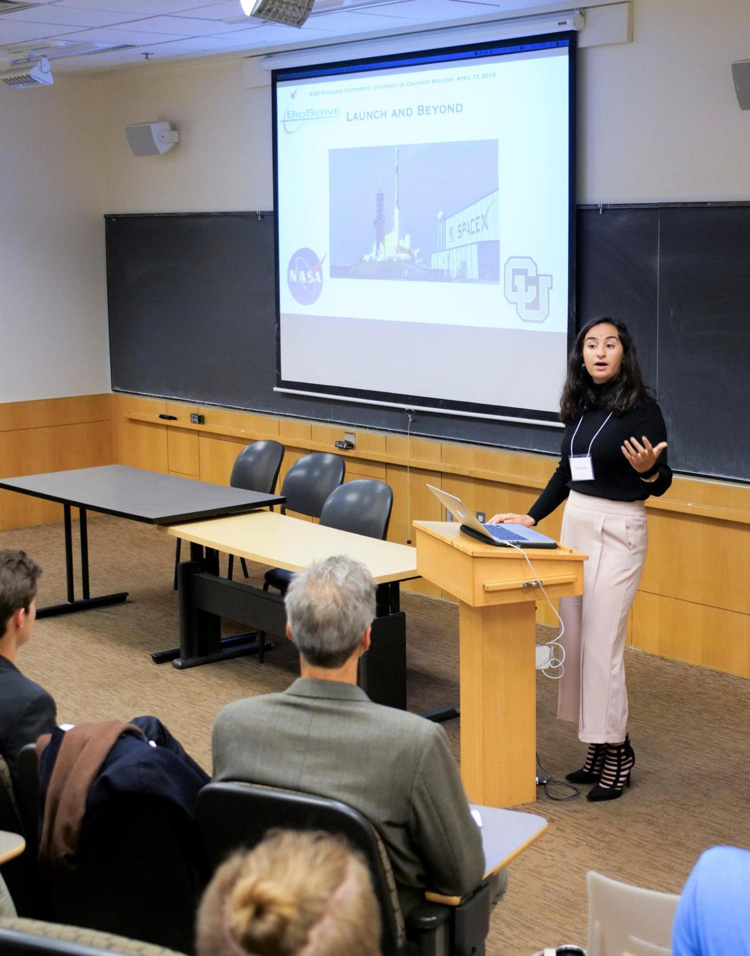 Norlin Scholar Zeena Nisar Presenting at the Annual Norlin Scholars Conference
