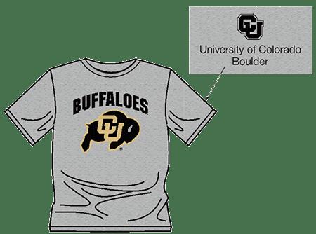 CU Buffaloes t-shirt