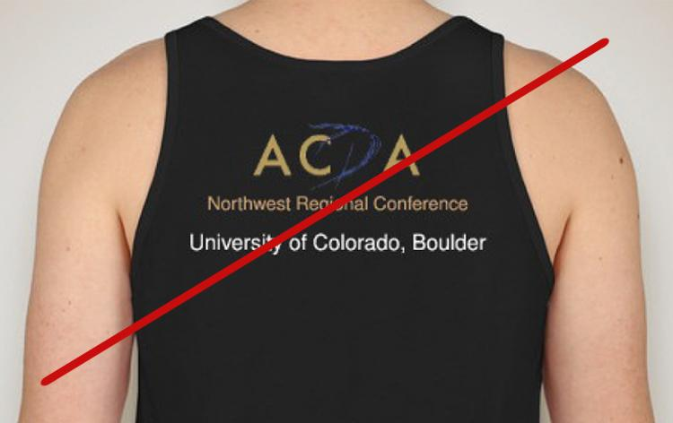 ACDA Northwest Regional Conference logo bad example