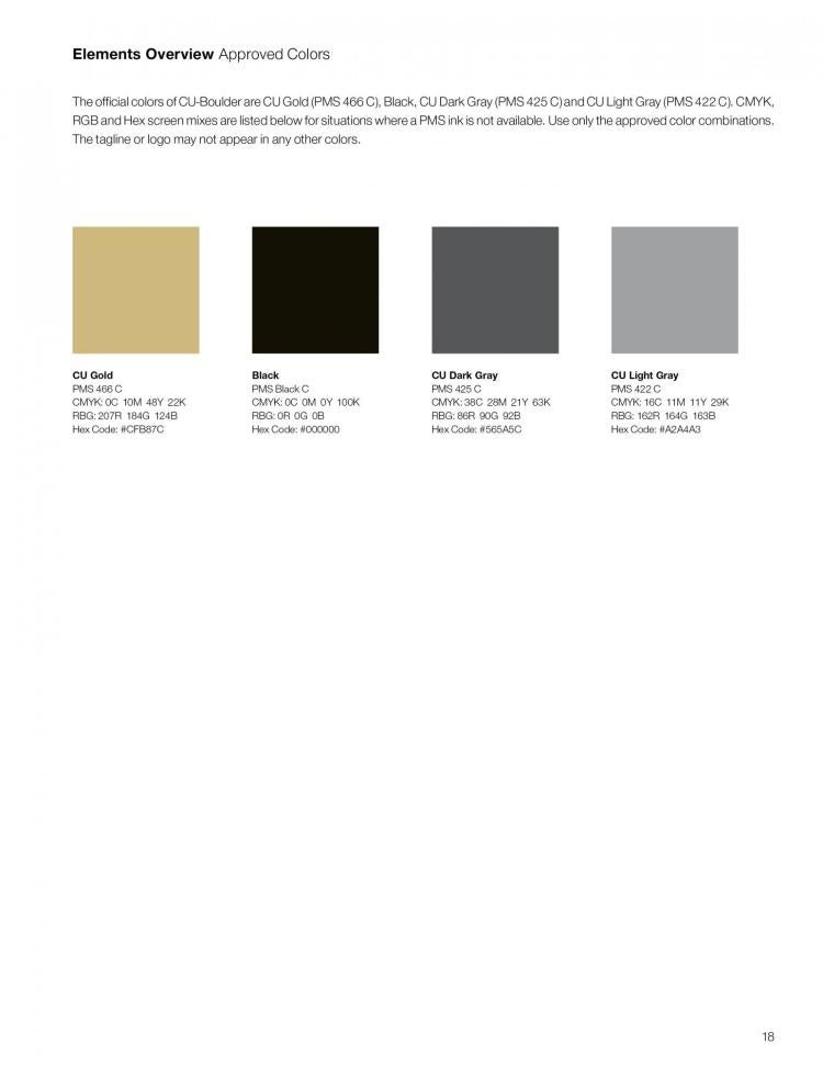 Color | Brand and Messaging | University of Colorado Boulder