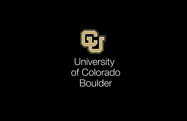 Video branding example of opening title with the CU Boulder lockup that says University of Colorado Boulder