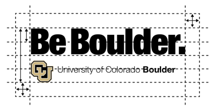 One-line Be Boulder lockup horizontal spacing