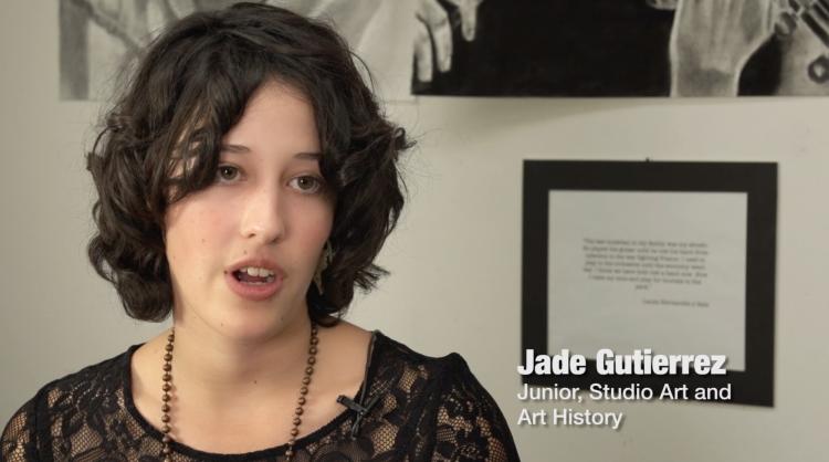 Jade Gutierrez, Junior, Studio Art and Art History.