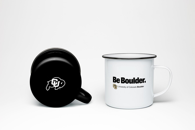 Mugs with CU Boulder branding