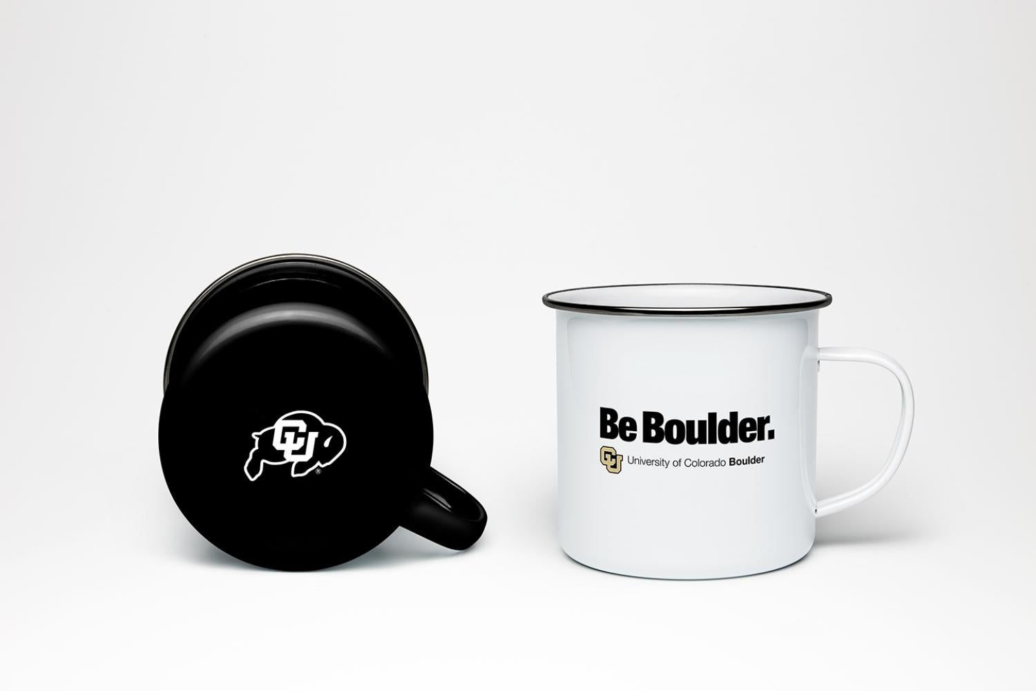 Mugs with CU Boulder branding