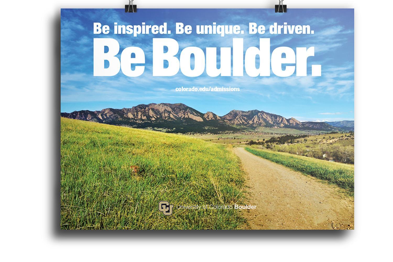 Be  Boulder. poster