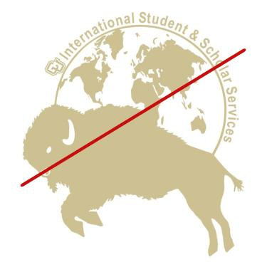 International Student Scholar Services logo bad example
