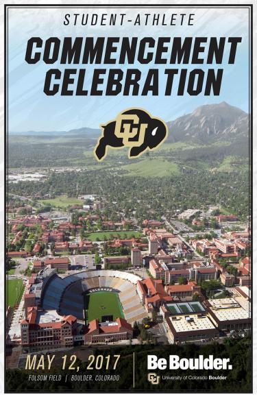Student-Athlete Commencement Celebration program cover