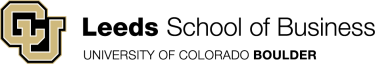 Leeds School of Business University of Colorado Boulder logo