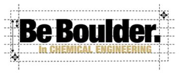 Be Boulder. In Chemical Engineering logo spacing around