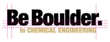Be Boulder. In Chemical Engineering logo alignment