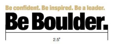 Be Boulder. branding minimum width
