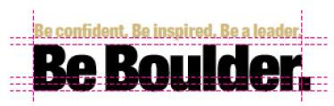 Be Boulder. branding alignment