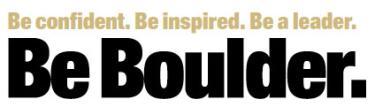 Be Boulder. branding example