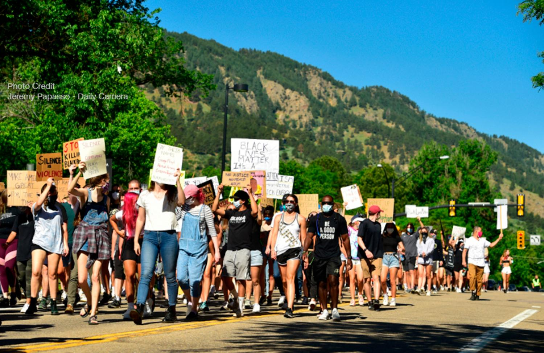BLM student protest in Boulder