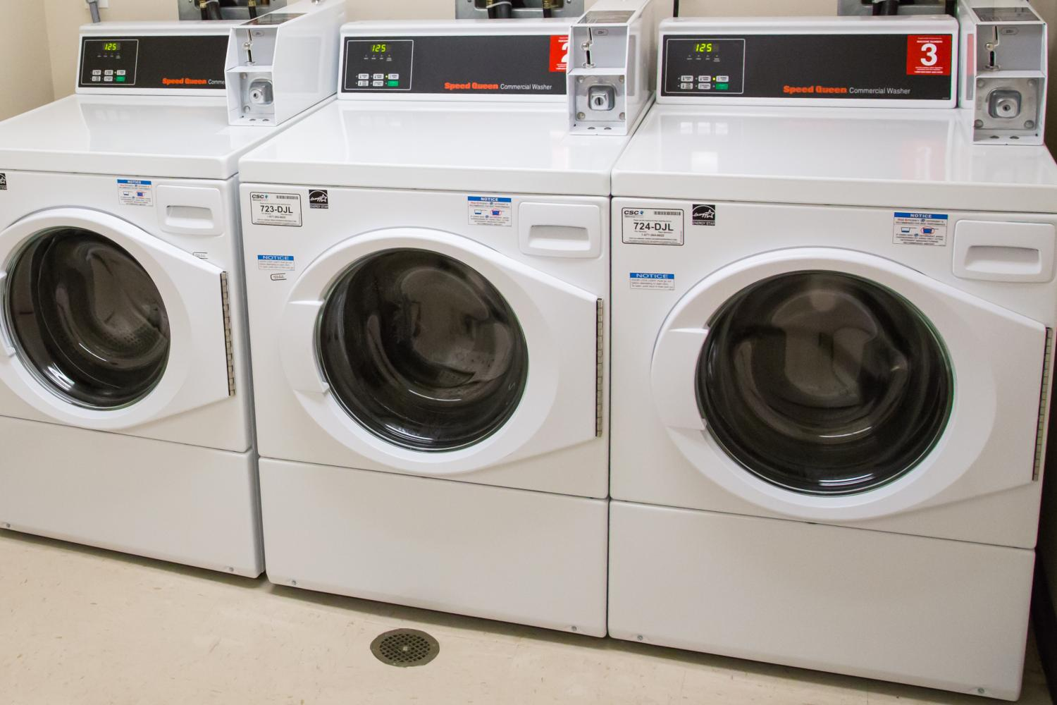 three pay washing machines