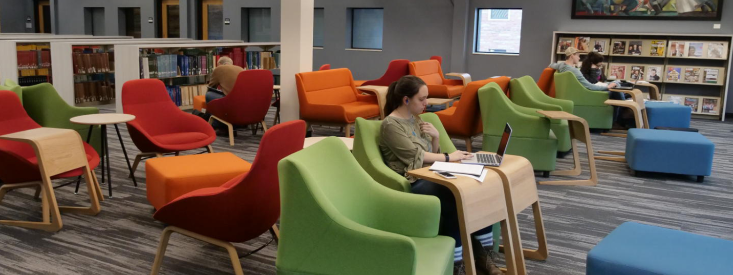 students studying in chairs