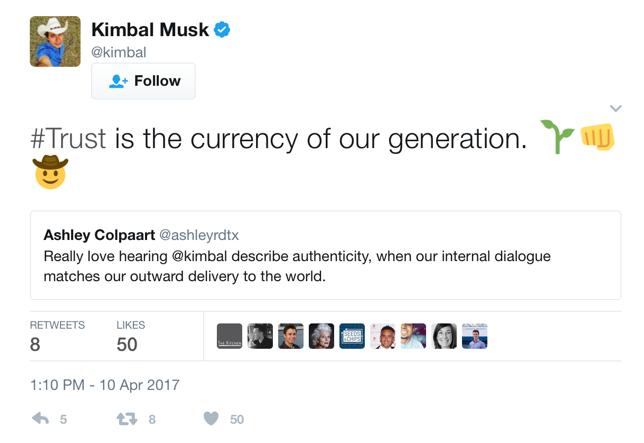 Tweet by Musk