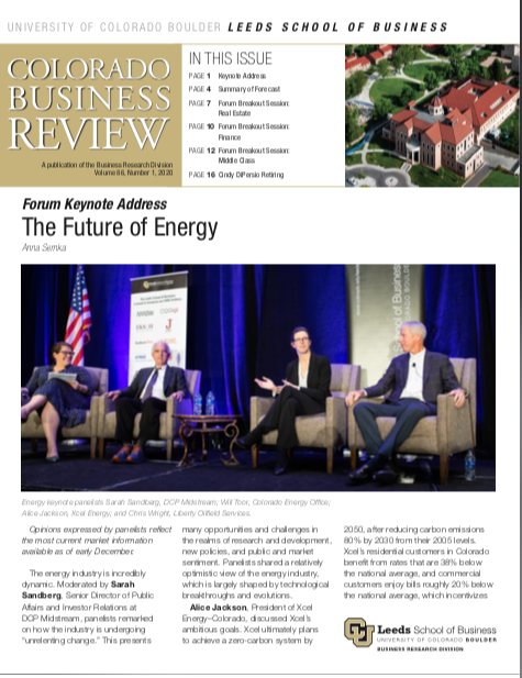 Colorado Business Review, Issue 1, 2020