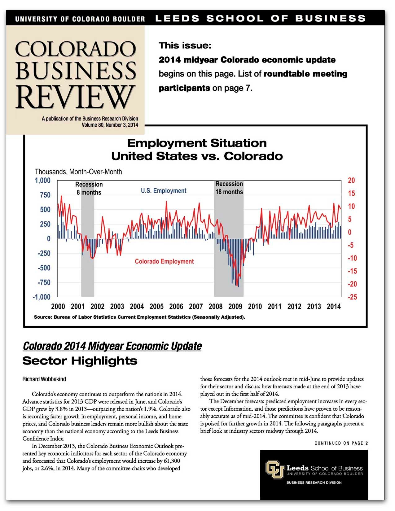 Colorado Business Review, Issue 3, 2014