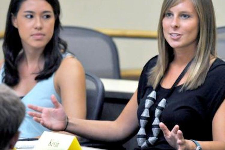 CESR graduate programs students in a classroom