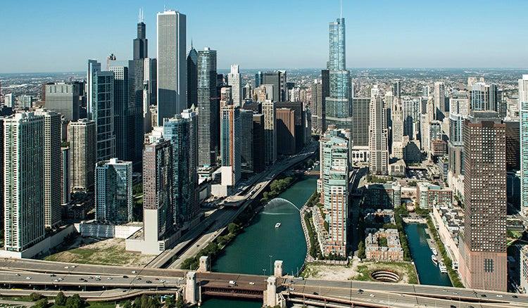 Chicago skyline location for treks