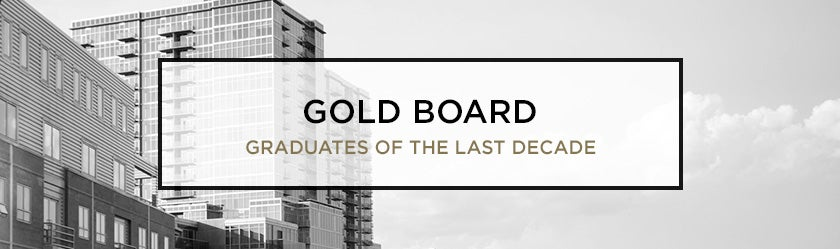 Alumni gold board