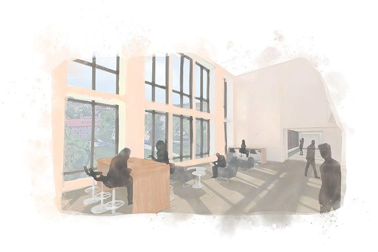Rustandy building illustration