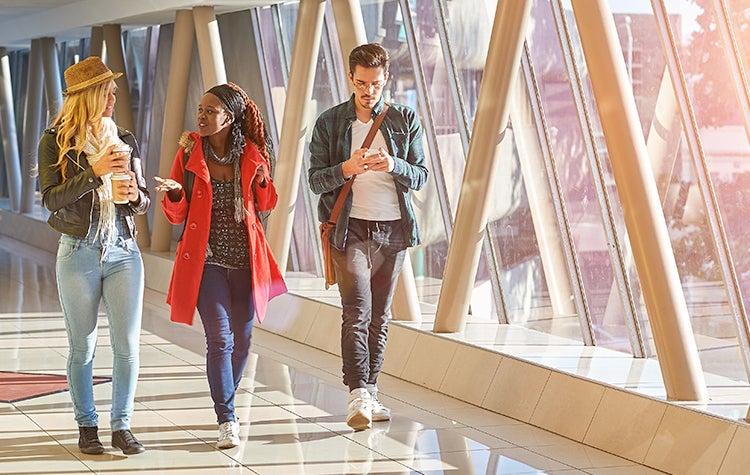 CESR undergraduate students walking