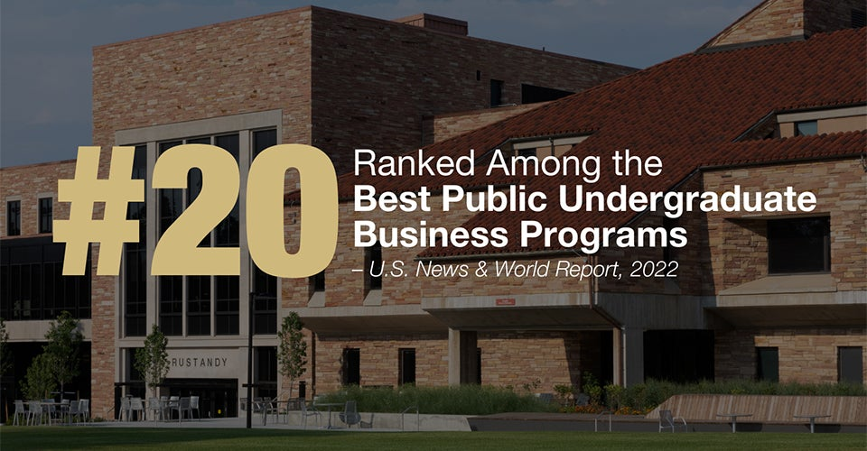 A photo of the CU campus. Leeds was ranked among the top 20 business schools by U.S. News for 2022.