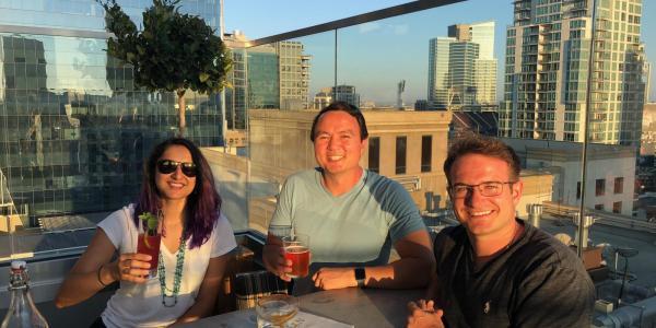 Brandon Schaefer on a work trip in San Diego