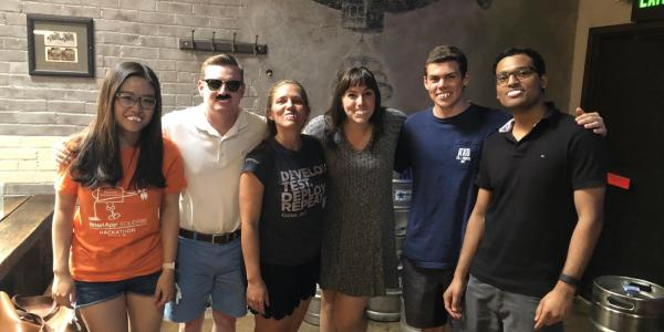 Kendall Carroll and other NetApp interns