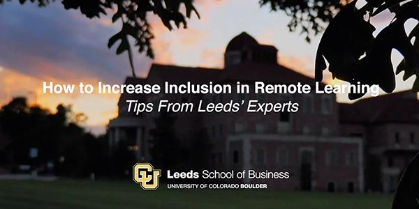 Tips for Increasing Inclusion in Remote Learning