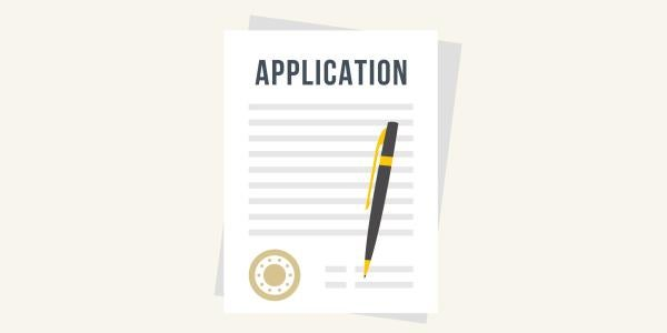 MBA application screen with application information