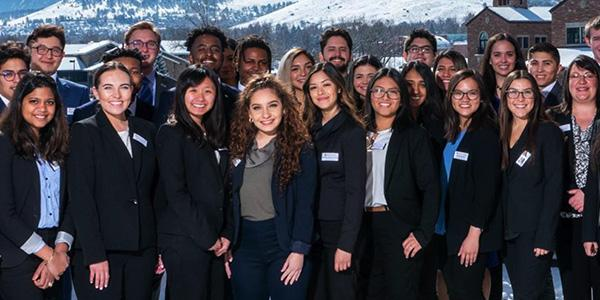 Diverse scholars students at the Leeds School of Business