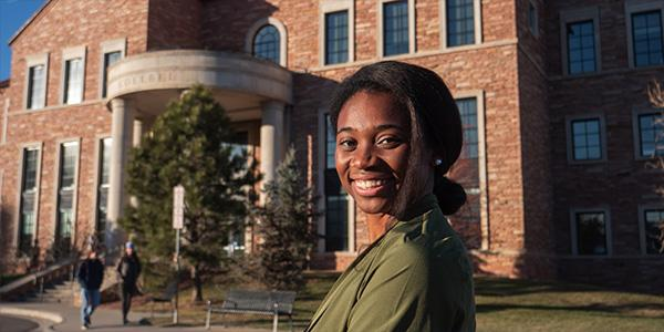 Diverse woman from the undergraduate business program