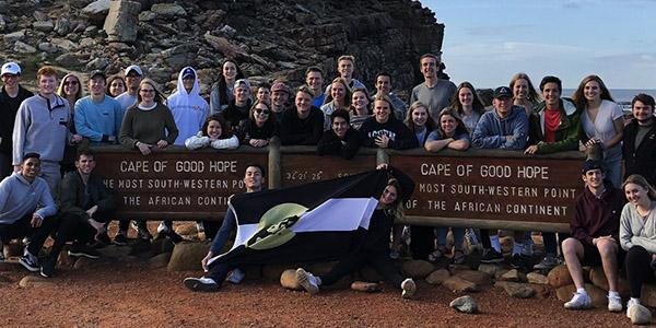 Global Business Certificate students at in southwest Africa