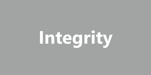 Together we Succeed, Integrity