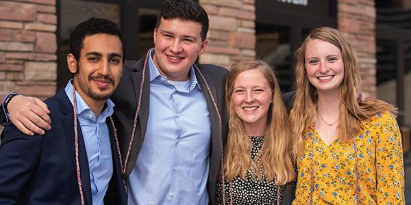 Business Minor at CU Boulder student graduates