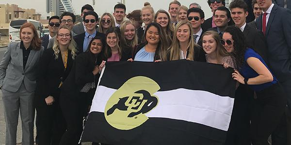 Leeds Honors program information and image of honors students