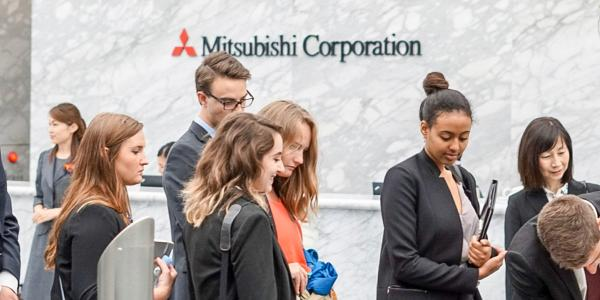 Students on a trek visiting corporations around the globe